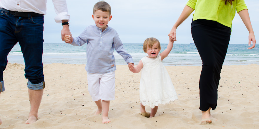 Family photoshoot at beach in Tynemouth
